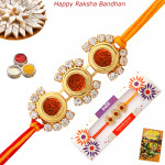 Stunning Rudraksha with Diamonds Rakhi