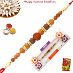Premium Sandalwood & Diamond Rakhi