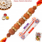 Alluring Sandalwood & Diamond Rakhi