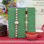 Set of 2 Rakhis - Pearl Rakhi set