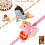 Set of 2 Rakhis - 2 Kids Rakhi