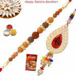 Set of 2 Rakhis - Lumba with Sandalwood Rakhis