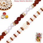 Set of 2 Rakhis - Bracelet with Pearl Rakhi