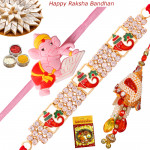 Set of 3 Rakhis - Lumba with Auspicious and Kids Rakhis