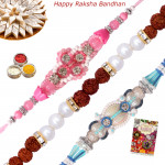 Set of 3 Rakhis - Bracelet with 2 Fancy Rakhis
