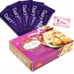 Sweet & Chocolaty - Soan Papdi, 5 Dairy Milk