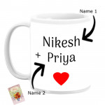 Custom Couples Name Personalized Mug & Card
