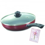 Prestige Omega Deluxe Fry Pan 240 mm with Lid and Card
