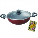 Prestige Omega Deluxe Kadai 240 mm with Lid