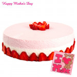 Strawberry Cake - Strawberry Cake 1 Kg and Card