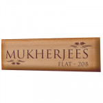 Melamine Coated Wooden Name Plate - 4 & Card