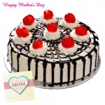Five Star Delight - Five Star Black Forest Cake 1 kg and Card