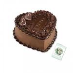 Choco Cake Heart Shaped 1 Kg