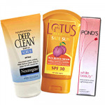 Sun Care - Sun Block Cream + Deep Clean Scrub + Lightening Lotion