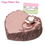 Chocolate Heart Cake - Chocolate Heart Cake 1 Kg and Card