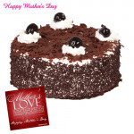 Black Forest Cake - Black Forest Cake 1/2kg and Card