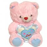 "Lovable Teddy - 6"" Pink Teddy With Heart"