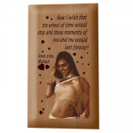 Wooden Plaque - 7 inch x 4 inch & Card