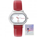 Fastrack Analog Red Strap Watch