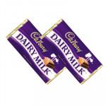 Cadbury's Dairy Milk - 2 Bars Of Dairy Milk Chocolate (L)
