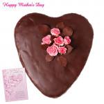 Choco Heart Cake - Choco Heart Cake 1 Kg and Card