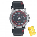 Fastrack Beach Black Leather Analog Watch