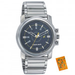 Fastrack Silver Black Analog Watch