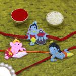 Set of 3 Rakhis - 3 Kids Rakhi
