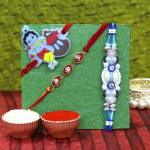 Set of 3 Rakhis - Fancy with Mauli and Kids Rakhi