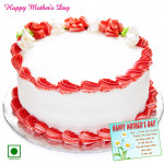 Strawberry Eggless Cake - Strawberry Eggless Cake 1 Kg and Card
