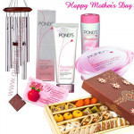 Melodious Hamper - Wind Chims, Kaju Mix 250 gms, Ponds Beauty Hamper and Card