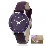 Fastrack Analog Purple Dial Watch