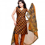 Brown and Black Churidar Suit