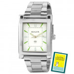 Sonata Analog Siver Watch White Dial