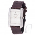 Sonata Analog Watch Brown Strap White Dial