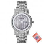 Sonata Wedding Analog Silver Dial