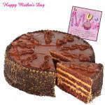 Chocolate Cake - 1.5 kg Chocolate Cake and Card