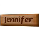 Melamine Coated Wooden Name Plate - 1 & Card