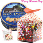 Cookies for mom - Danish Cookies, Assorted Chocolate Box 200 gms and Card