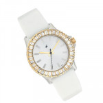 Fastrack Watches White Dial White Strap and Card