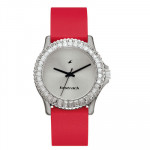 Fastrack White Dial Red Strap