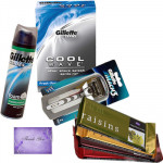 All for Father - Gillette Razor, Foam, Aftershave, Temptations 4 pcs and Card