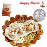 Anjir Dryfruit Halwa with Laxmi-Ganesha Coin