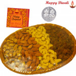 Assorted Basket 400 gms - Assorted Dry Fruits Basket with Laxmi-Ganesha Coin