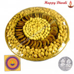 Assorted Basket 800 gms - Assorted Dry Fruits Basket with Laxmi-Ganesha Coin