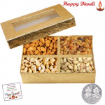 Assorted Dryfruits 400 gms - Assorted Dryfruits with Laxmi-Ganesha Coin