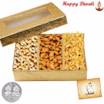 Assorted Dryfruits 800 gms - Assorted Dryfruits with Laxmi-Ganesha Coin