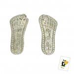 Auspicious Silver Laxmi Steps (6 grams)