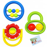 Little's Baby Rattle - Flower, Car and Ball