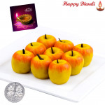 Badam Apple with Laxmi-Ganesha Coin